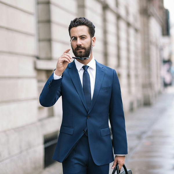 how to wear navy & white for men