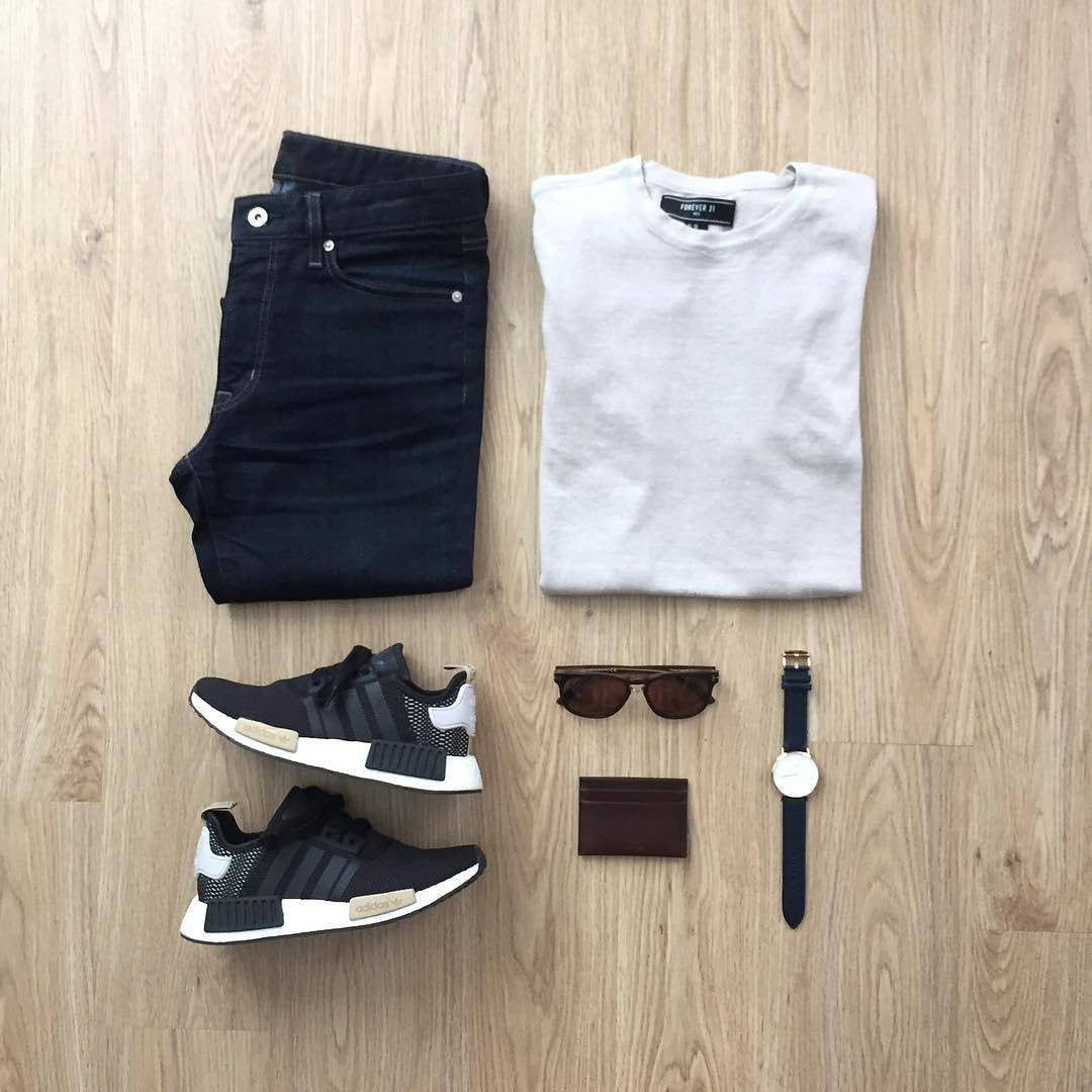 Black jeans white tshirt ourfit for men