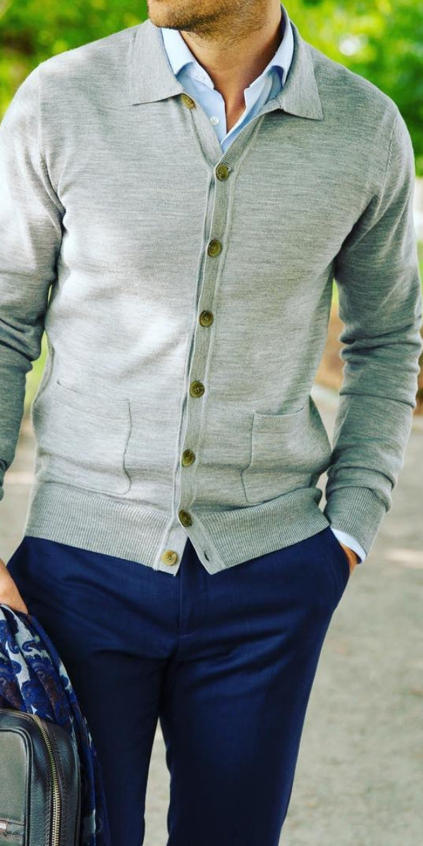 5 Outfits With Cardigan For Men #cardigan #outfits #mens #fashion #street #style #winter #fashion