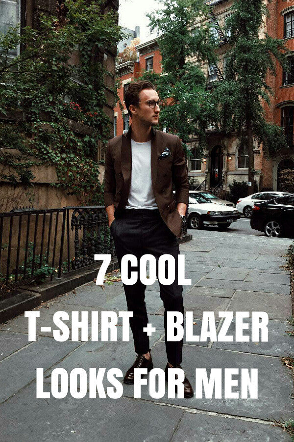 t-shirt, blazer & jeans look for men