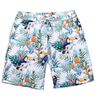 Summer Pineapple Floral Print Mens Beach Shorts PILAEO
