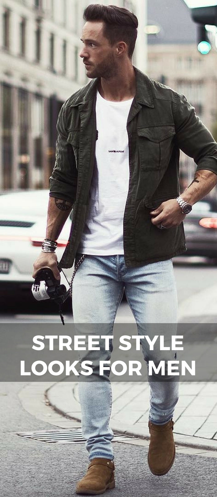 Street style looks for men magic fox
