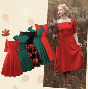 Get Best Vintage Dresses for the Year-end Parties!