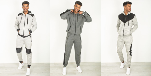 Skinny Fit Grey Tracksuit
