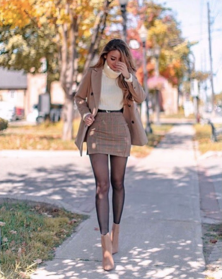 Wool Jacket With Skirt