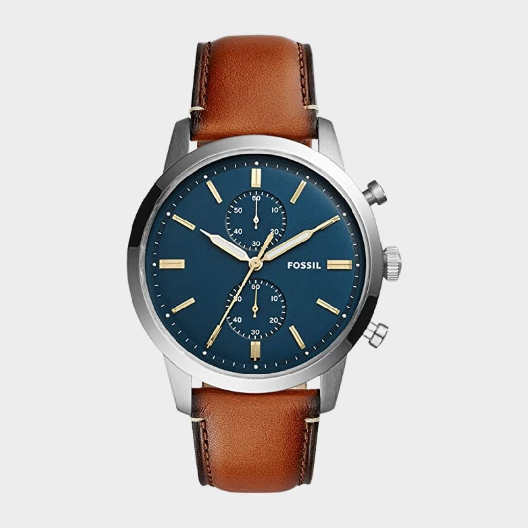 Fossil Men's Townsman Stainless Steel and Leather Casual Quartz Chronograph Watch ($94.22)
