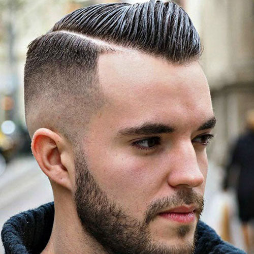 Short comb over haircut for men 2018