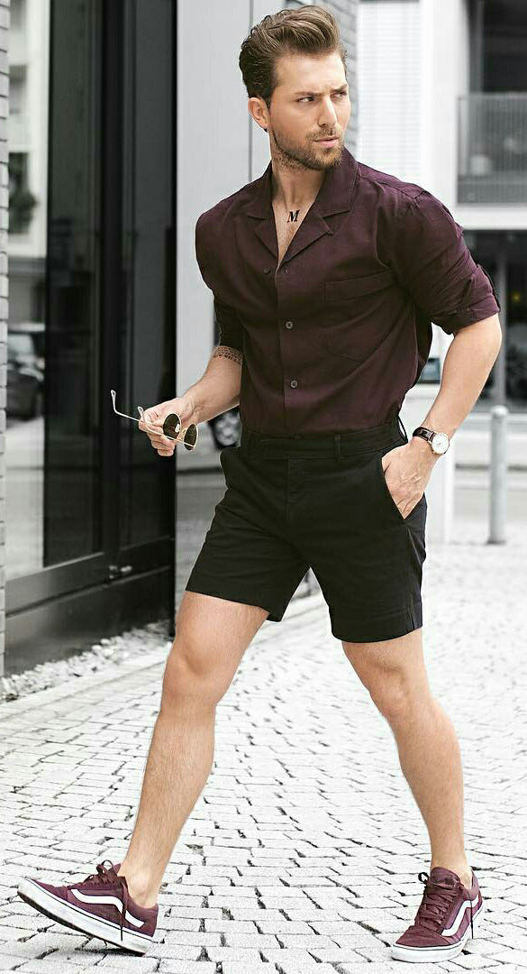 5 dashing shorts amp shirt outfit ideas for men � lifestyle