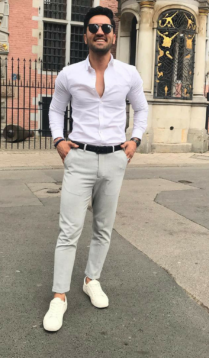 Formal semi clothes for men photo recommend to wear in summer in 2019