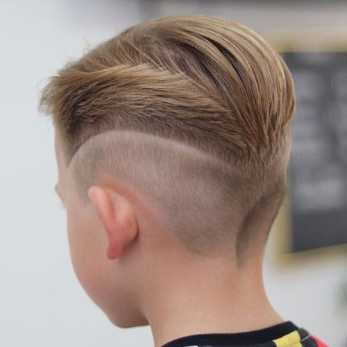 Slick Back with Mid Fade and Design