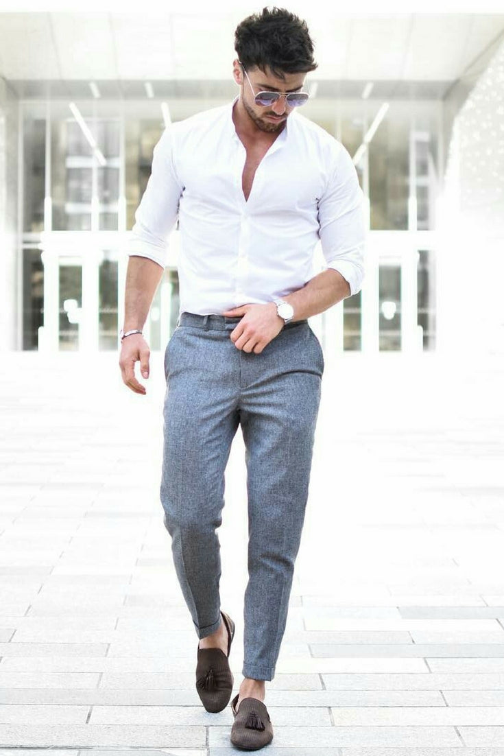7 smart comfortable everyday outfit ideas you can steal for White shirt outfit mens