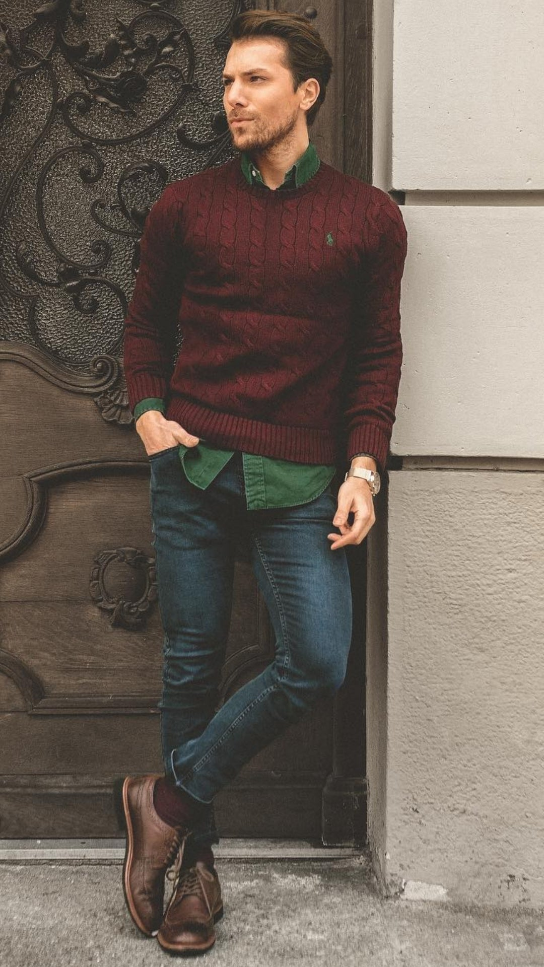 Cool sweater outfits for men #mensfashion #sweater #outfits #streetstyle