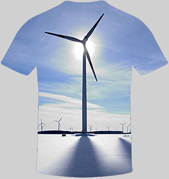 Windmill Print T-Shirt