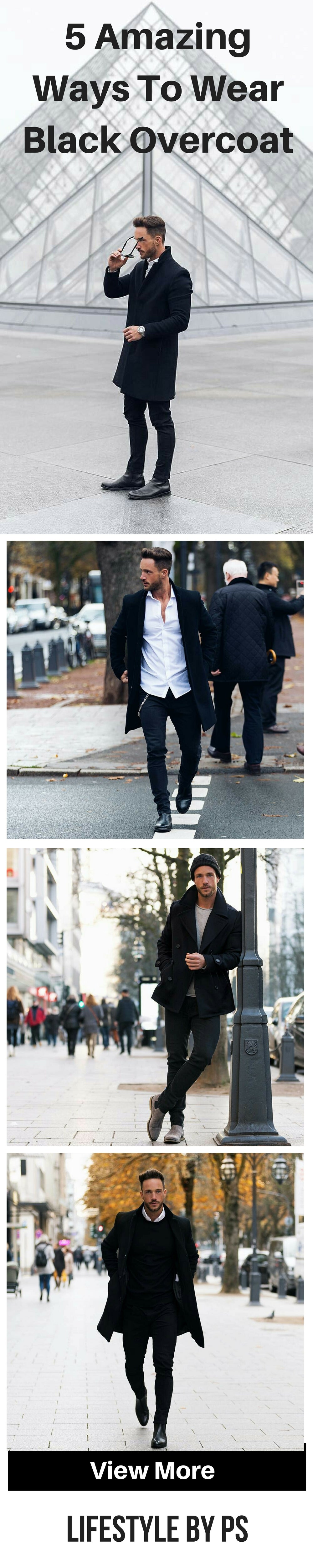 How to wear black overcoat for men