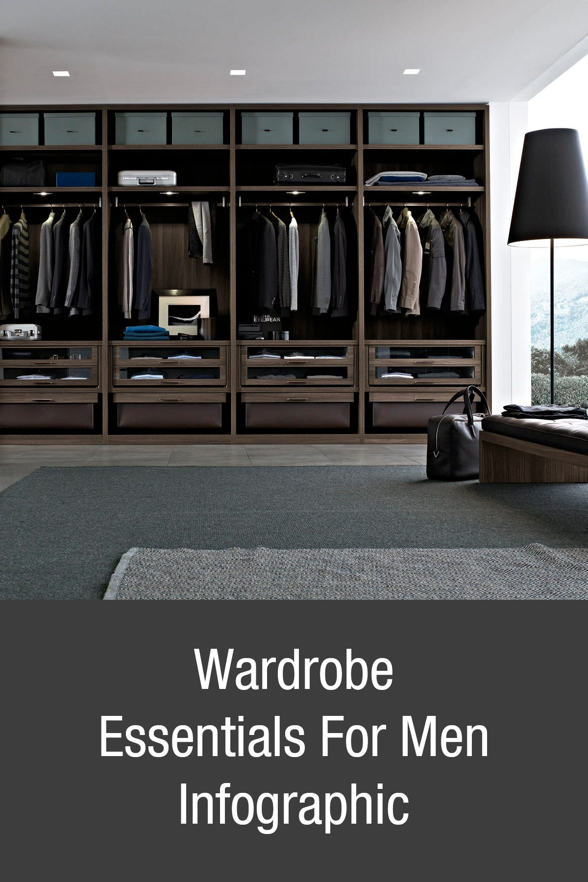 Wardrobe essentials for men infographic