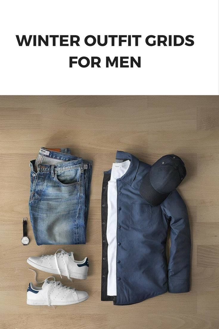 Winter outfit grids for men #mensfashion #outfitgrids #fallfashion