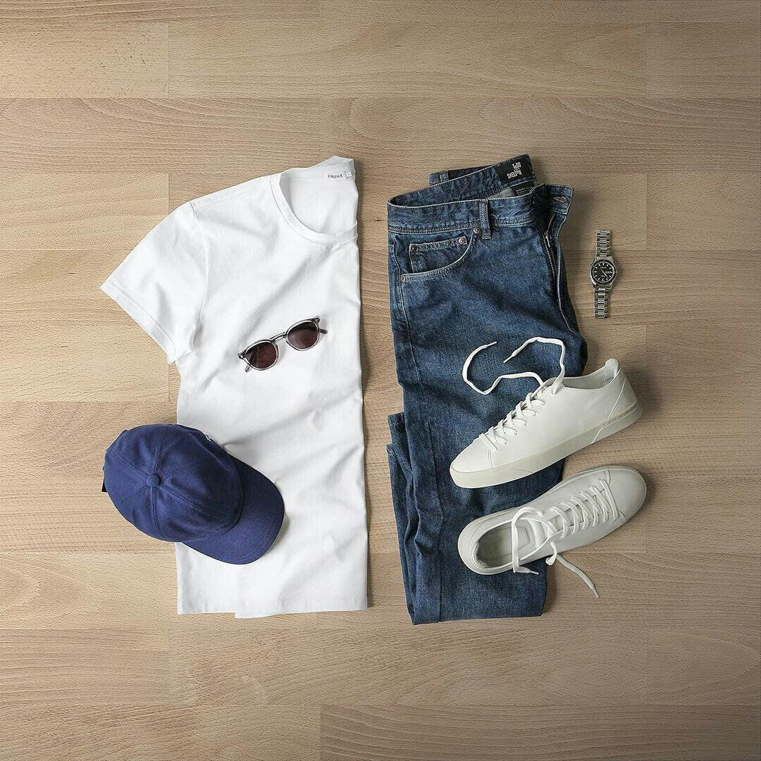 weekend outfit grids for men