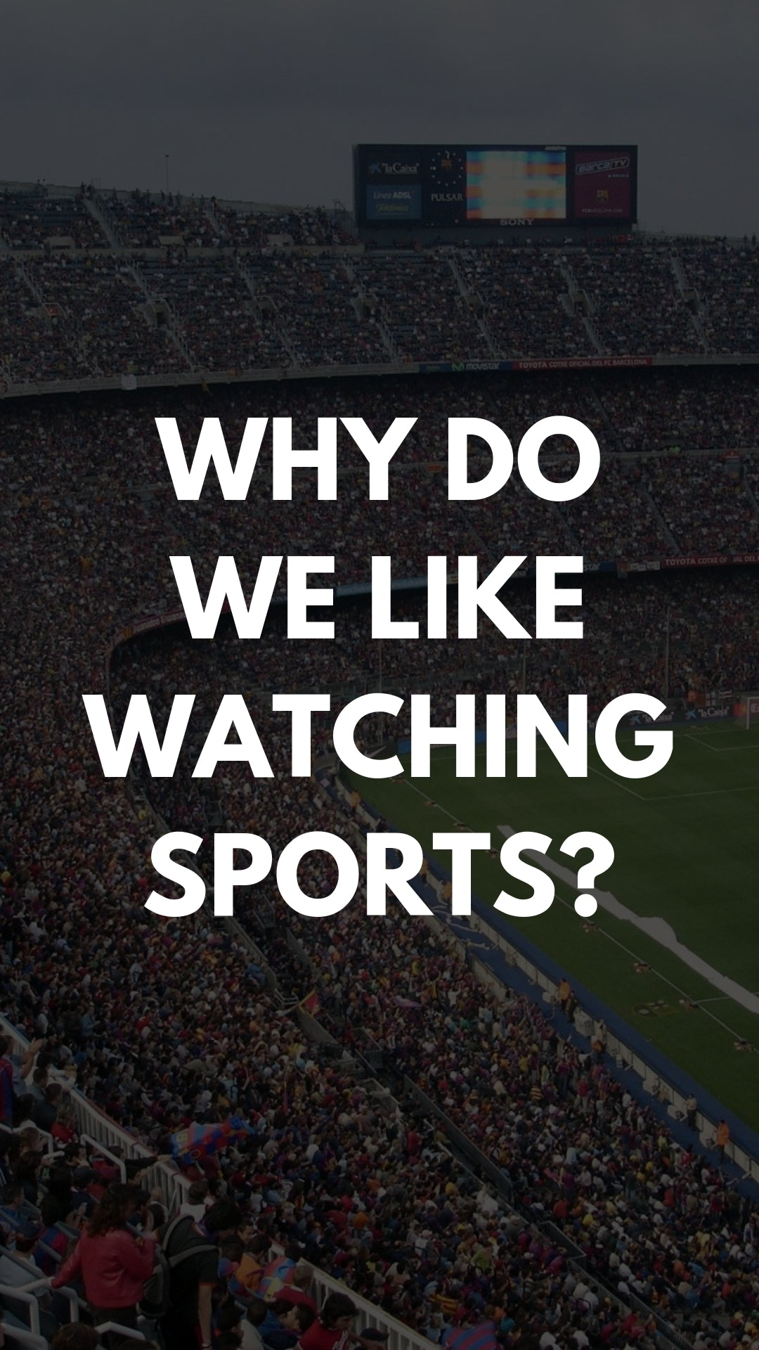 Why Do We Like Watching Sports?