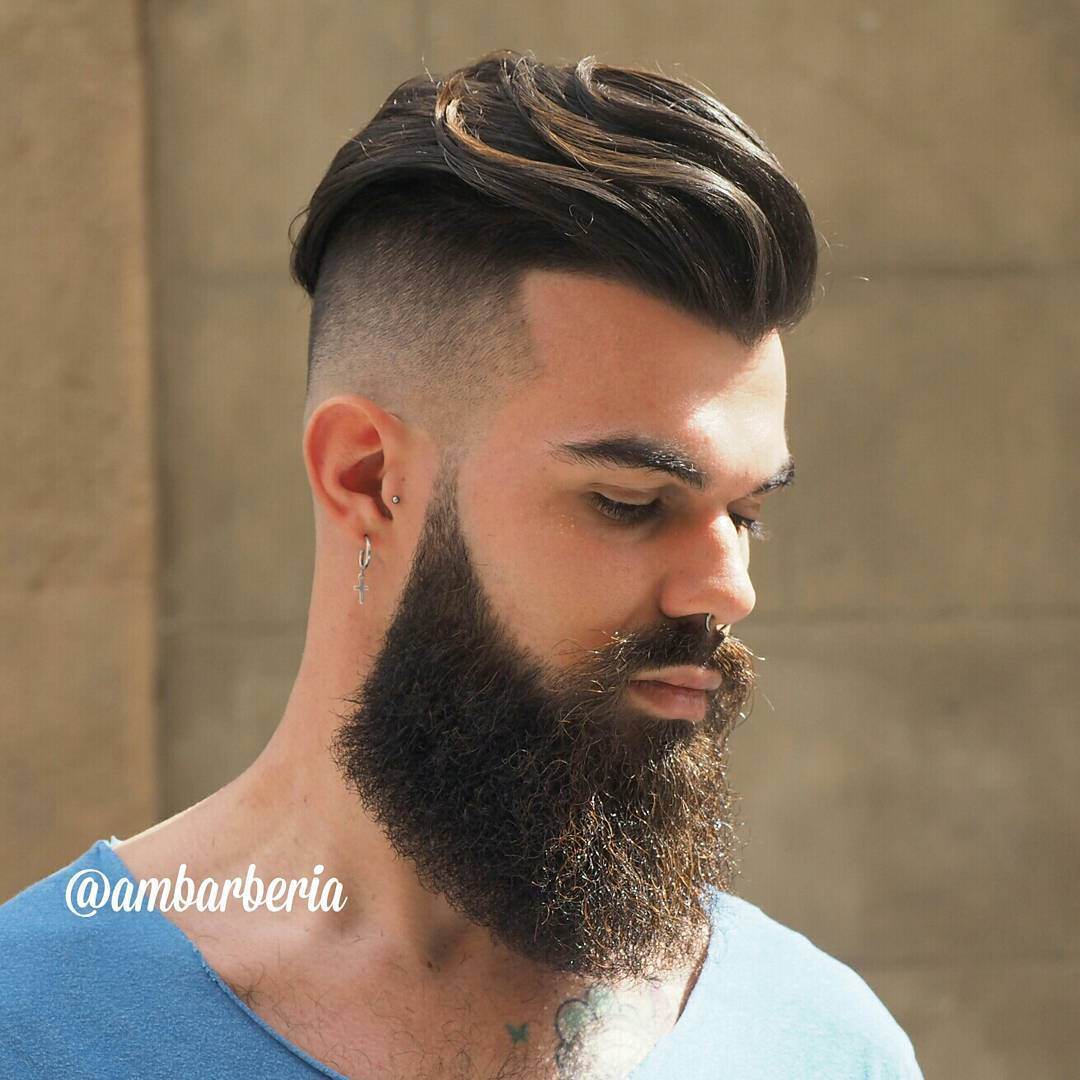 Long Undercut + Beard