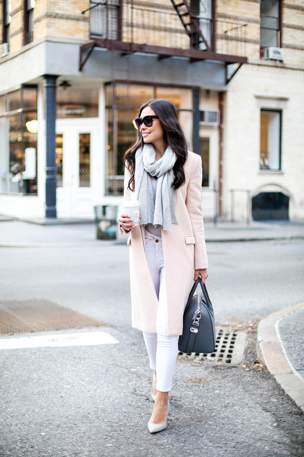 blush pink outfit for women