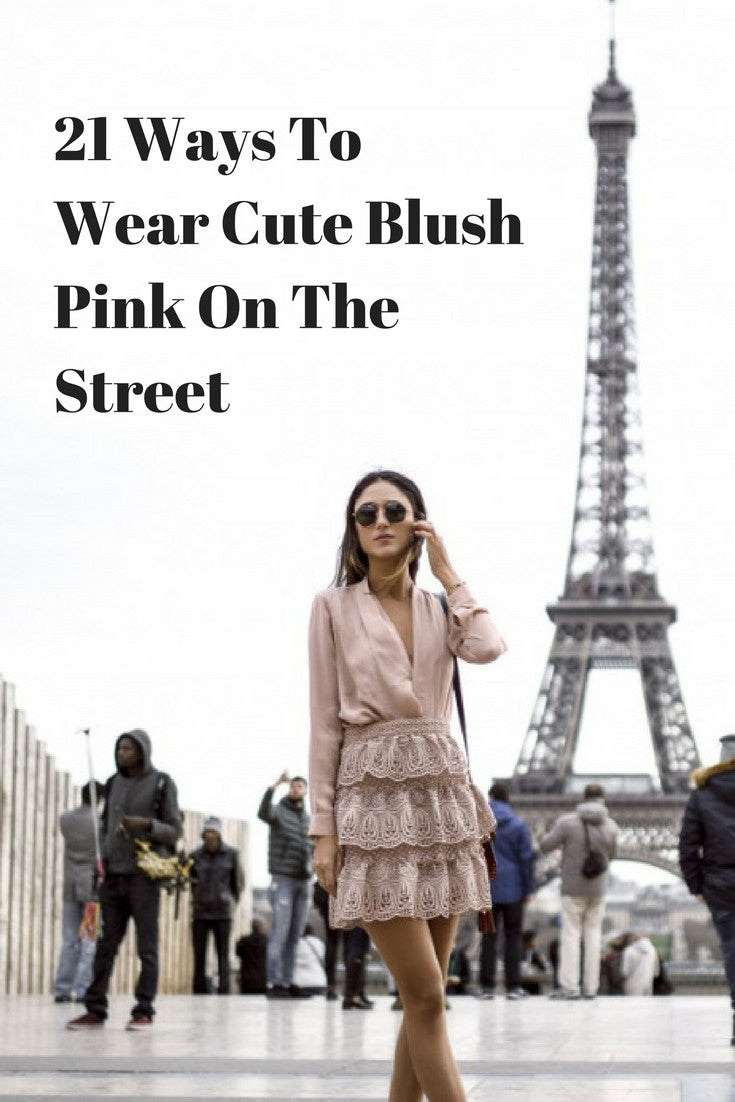 21 ways to wear blush pink on the street