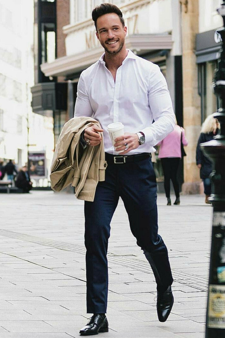 8 ways to wear navy chinos on the street navy chinos for White shirt outfit mens