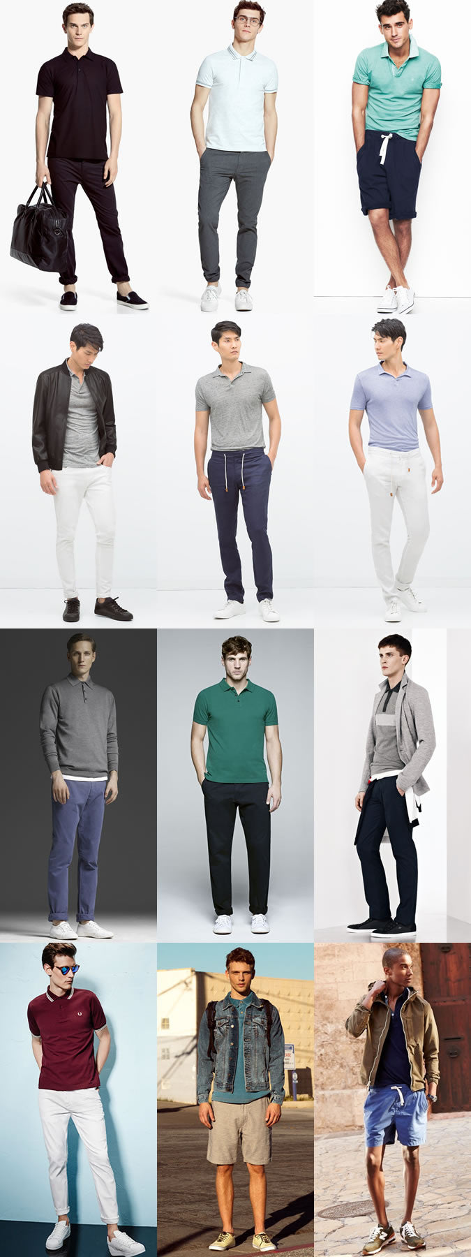 sporty looks in polo shirts for men