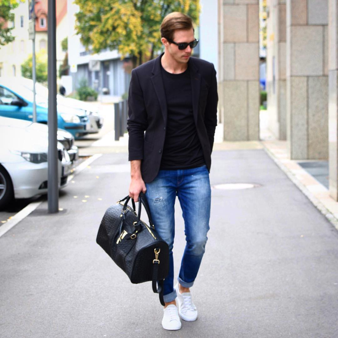 How To Wear A T-shirt With Blazer for men. 15 photos for ...