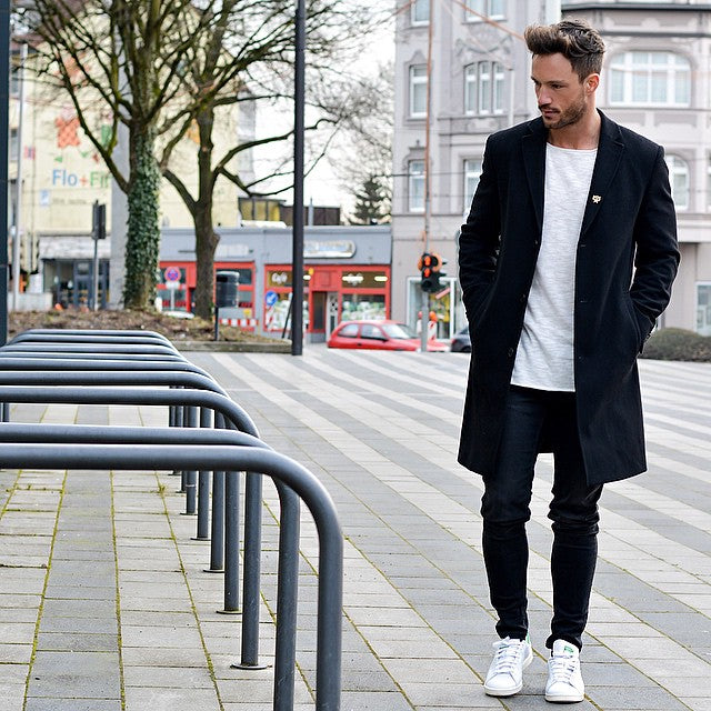 Ways to wear tee with overcoat