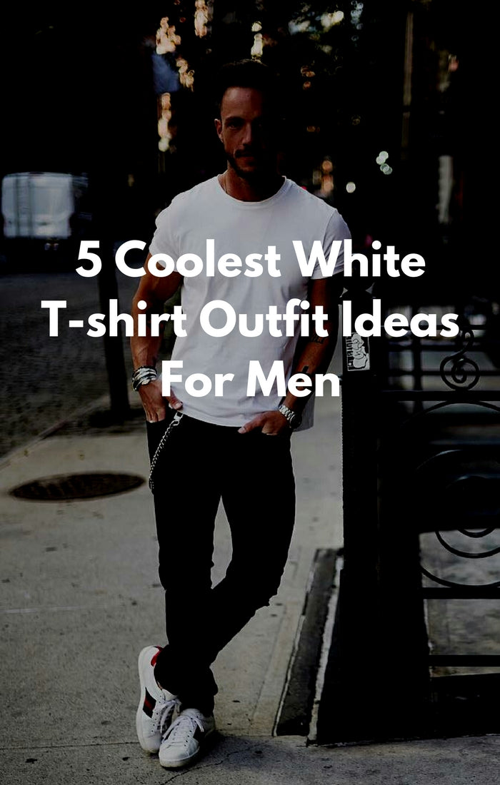 how to wear white tee for men #mens #fashion #Style