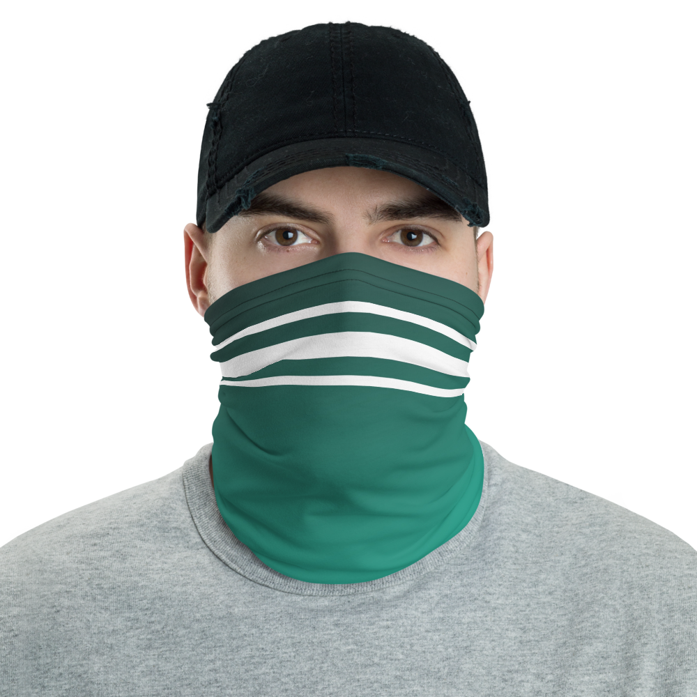 Stylish Face Mask + Headband In Forest Green