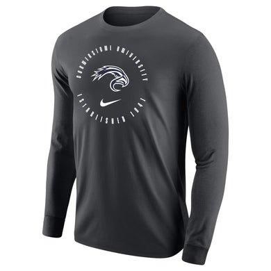 Nike Men's Core Cotton Long Sleeve Tee, Anthracite