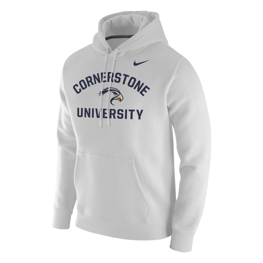 Nike Men's Club Fleece Hoodie, White