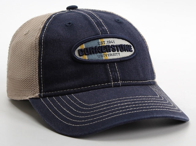 Ahead Wharf Cap, Navy/Tan