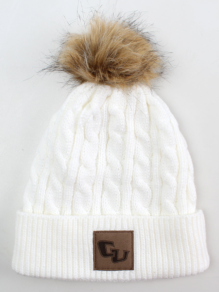 Ahead Pomfret Beanie W/Pom, Winter White