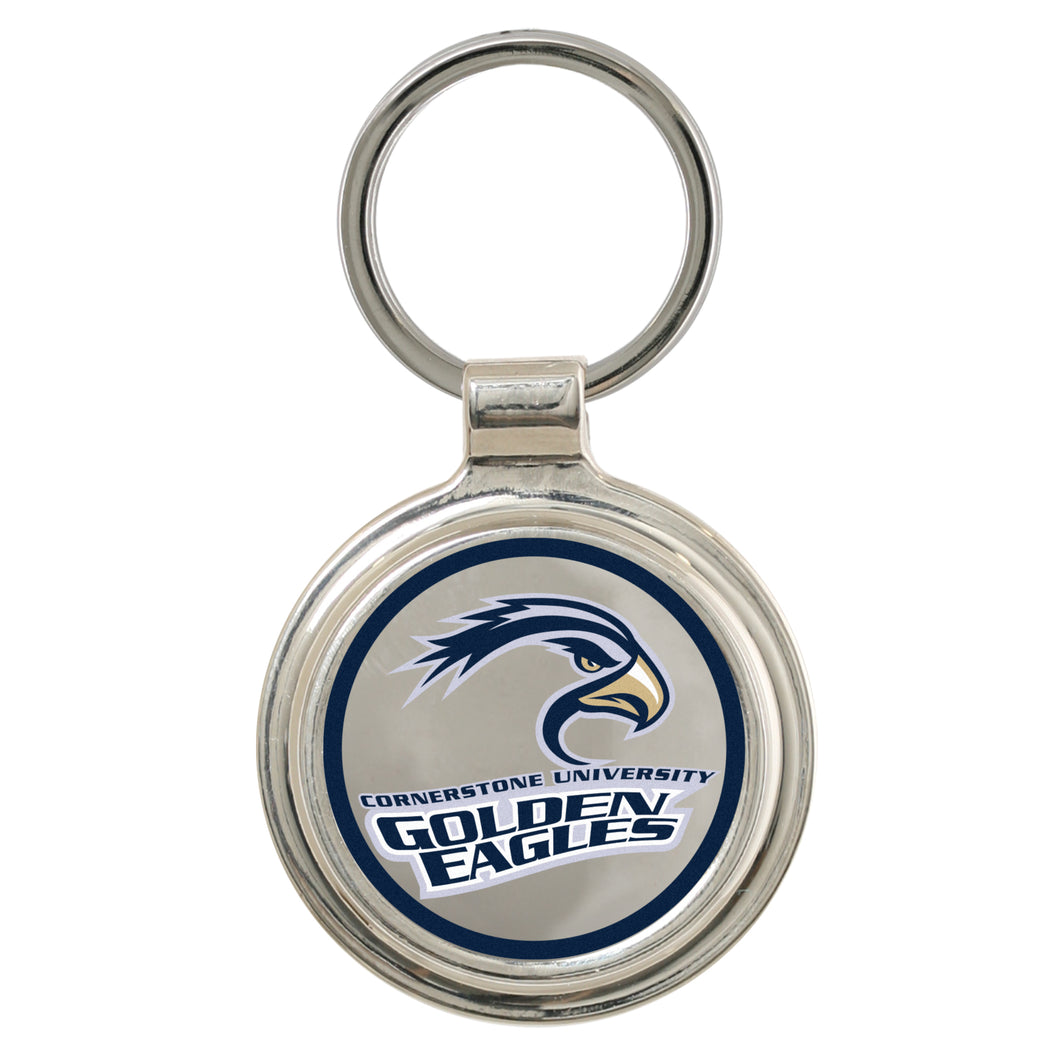 Spirit Rockport Round Key Ring, Silver