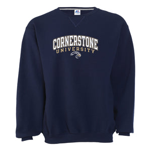 Russell Men's Crewneck Sweatshirt, Navy