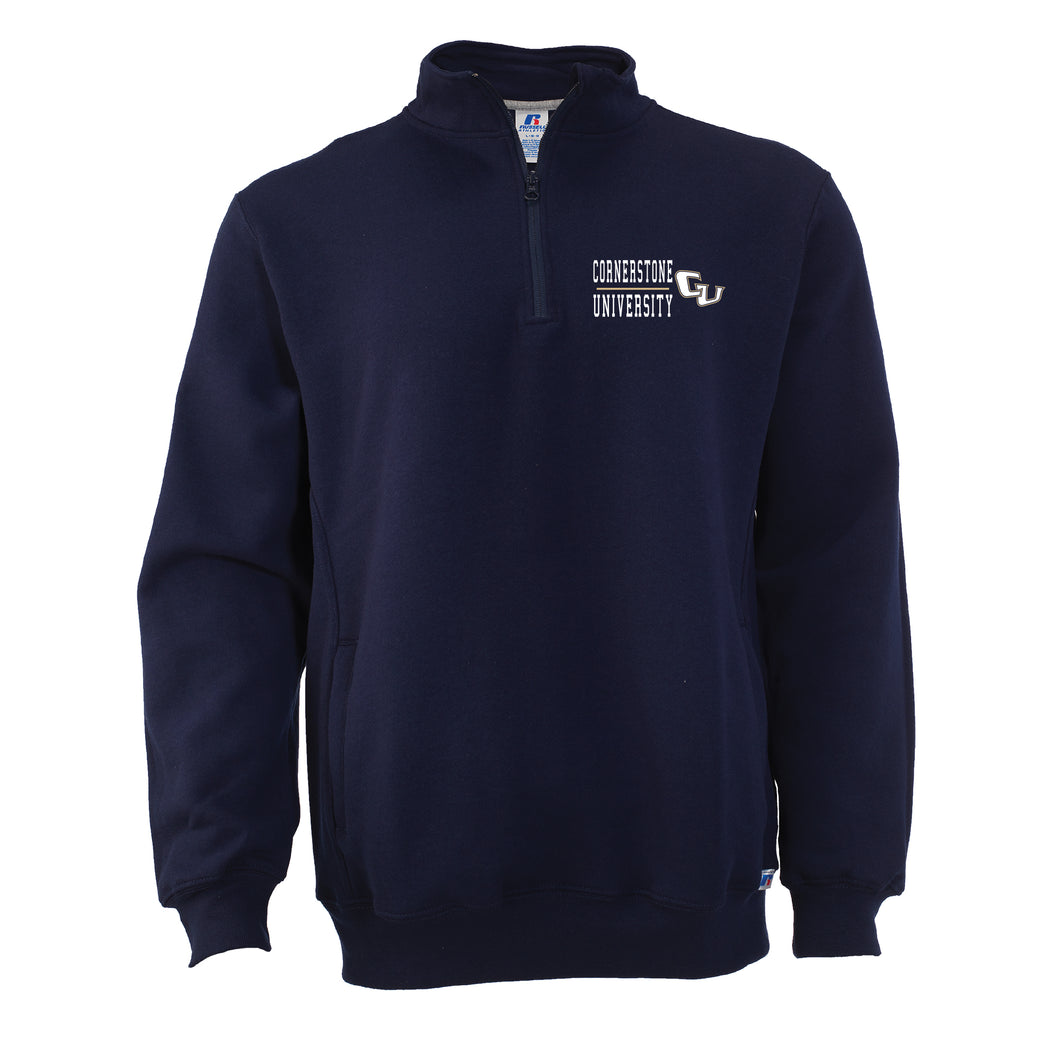 Russell Men's Fleece 1/4 Zip, Navy