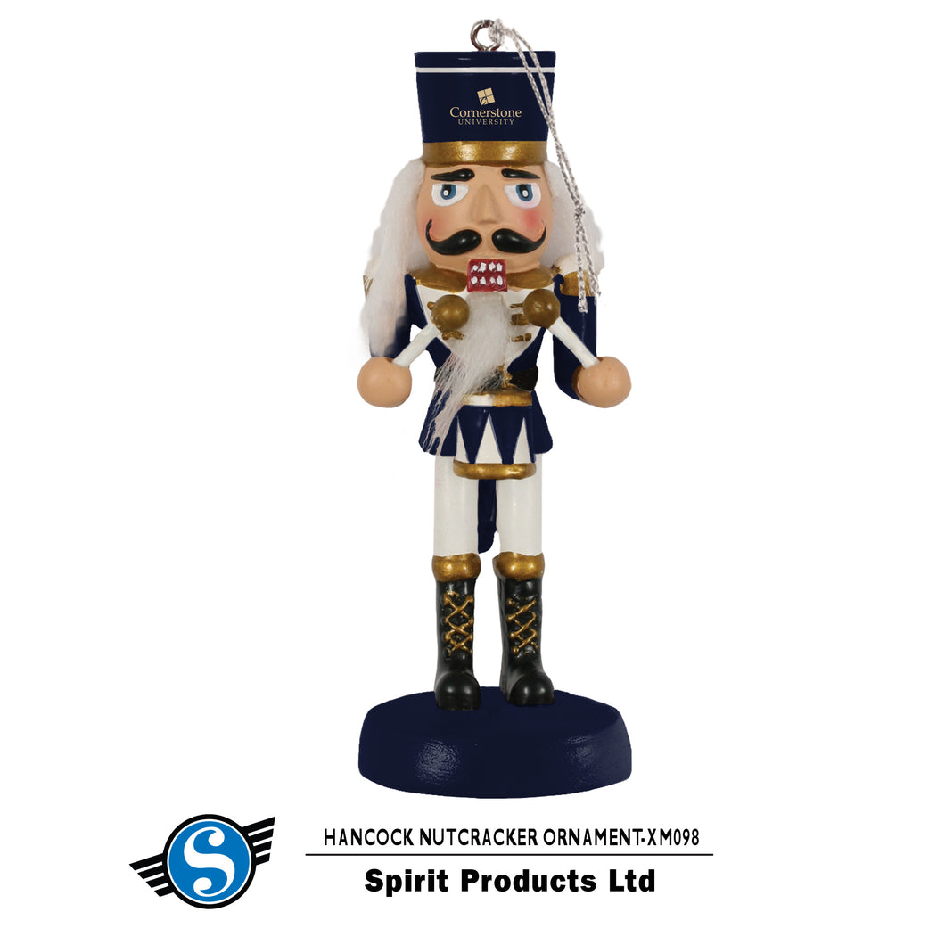 Spirit Nutcracker Ornament, Navy/Gold