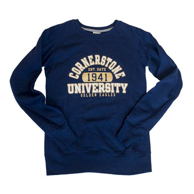 Russell Women's Fleece Crew Sweatshirt, Navy
