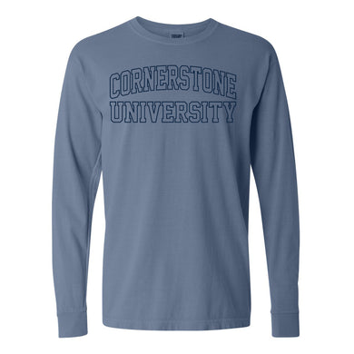 Spring 2021 Long Sleeve Tee, Blue Jean