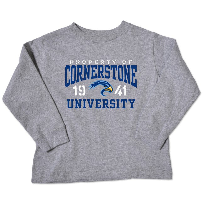 College Kids Youth Toddler LS Tee, Oxford
