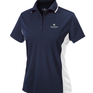 Charles River Women's Color Block Polo, Navy