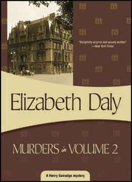 Elizabeth Daly - Murders in Volume 2