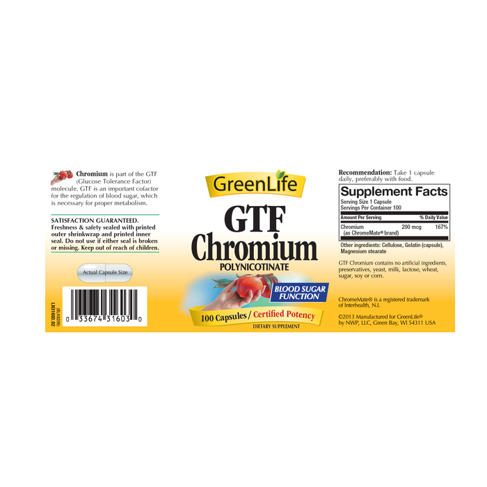 GTF Chromium - GreenLife Singapore