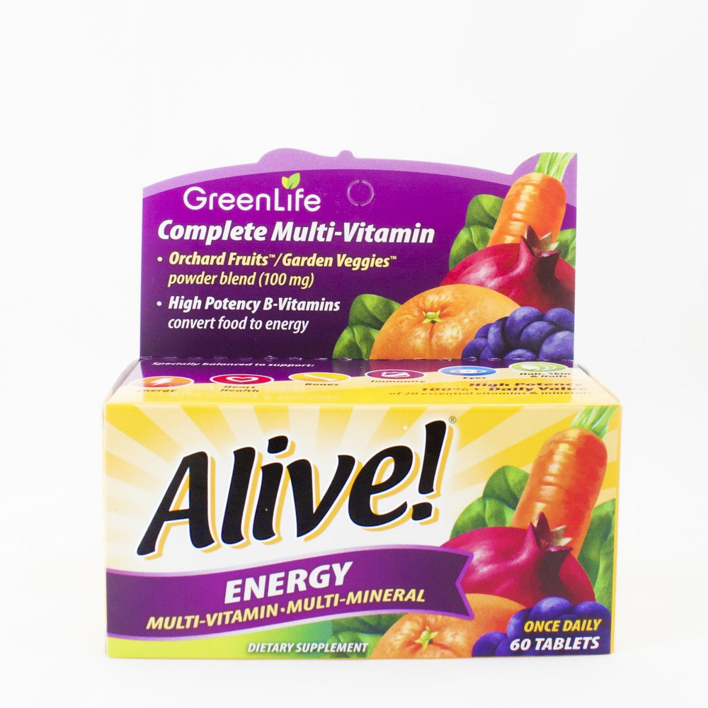 Alive Energy 50+ Multivitamin (60 tablets) - GreenLife Singapore
