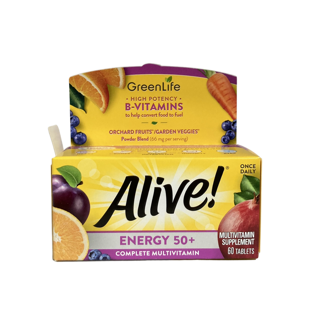 Alive Energy 50+ Multivitamin 60 tablets (New in 2021)