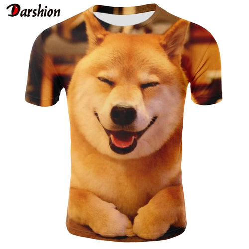 Dog Printing T Shirt Men/Women