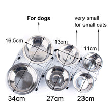 Load image into Gallery viewer, Stainless Steel Double Food Dish