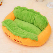 Load image into Gallery viewer, Hot Dog Bed Lounger Fiber